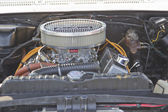 White Chevy Impala SS Engine — Stock Photo