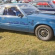1980 Blue Ford Mustang — Foto de Stock