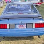 Постер, плакат: 1980 Blue Ford Mustang Rear View