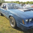 1980 Blue Ford Mustang Side Profile — Stock Photo