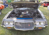 Blue and Silver Ford Ranchero Front View — Стоковое фото