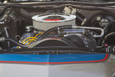 Blue and Silver Ford Ranchero Engine — Stock Photo