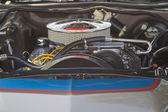 Blauwe en zilveren ford rancheigenaar motor — Stockfoto