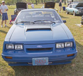 1980 Blue Ford Mustang Front View — Stock Photo