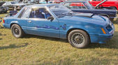 1980 Blue Ford Mustang — Stock Photo