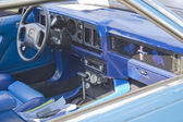 1980 Blue Ford Mustang Interior — Стоковое фото