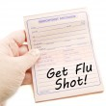Important Message Get Flu Shot — Stock Photo