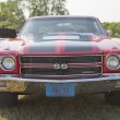 1970 Red Black Chevy Chevelle SS Low Front View — Stock Photo #13662037