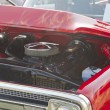 Stock Photo: 1970 Red Chevy Truck Hood and engine