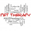 Pet Therapy Word Cloud Concept in red and black — Stock Photo