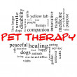 Pet Therapy Word Cloud Concept in red and black — Stock Photo #13662139