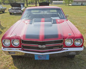 1970 Red Black Chevy Chevelle SS Front View — Stock Photo