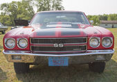 1970 Red Black Chevy Chevelle SS Low Front View — Stock Photo