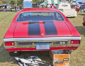 1970 Red Black Chevy Chevelle SS Rear View — Stock Photo