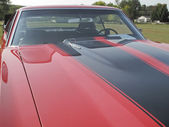 1970 Red Black Chevy Chevelle SS Hood — Stock Photo