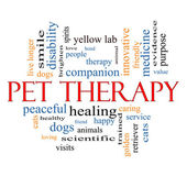 Pet Therapy Word Cloud Concept — Stock Photo