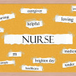 Royalty-Free Stock Photo: Nurse Corkboard Word Concept