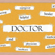 Royalty-Free Stock Photo: Doctor Corkboard Word Concept