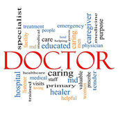 Doctor Word Cloud Concept — Stock Photo