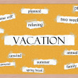 Vacation Corkboard Word Concept — Stock Photo #14811983