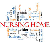 Nursing Home Word Cloud Concept — Stock Photo