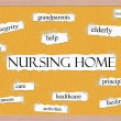Nursing Home Corkboard Word Concept — Stock Photo