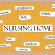 Royalty-Free Stock Photo: Nursing Home Corkboard Word Concept