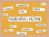 Nursing Home Corkboard Word Concept — Stock Photo