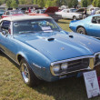 1967 Blue Pontiac Firebird - Stock Photo