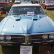 1967 Blue Pontiac Firebird Front View - Stock Photo