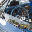 1967 Blue Pontiac Firebird Interior - Stock Photo