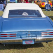 1967 Blue Pontiac Firebird Rear View - Stock Photo