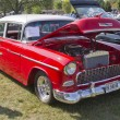Stockfoto: 1955 Chevy Bel Air Red & White