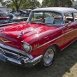 图库照片: Red 1957 Chevy Bel Air