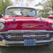 Red 1957 Chevy Bel Air Grill View — Stock Photo #17398127