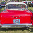 rosso 1957 chevy bel air retrovisione — Foto Stock