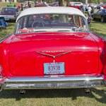 vermelho 1957 chevy bel air retrovisores — Foto Stock