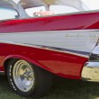 Постер, плакат: Red 1957 Chevy Bel Air Fin