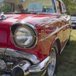 Stock Photo: Red 1957 Chevy Bel Air Profile view