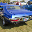 Постер, плакат: Blue 1970 Pontiac Lemans Sport Engine Rear View