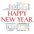 Stock Photo: Happy New Year Word Cloud Concept