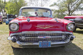 Red 1957 Chevy Bel Air Grill View — Stock Photo