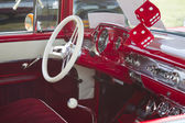 Red 1957 Chevy Bel Air Interior View — Stock Photo