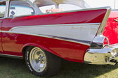 Red 1957 Chevy Bel Air Fin — Stock Photo