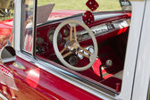 Red 1957 Chevy Bel Air Drivers Side — Stock Photo