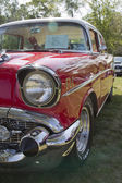 Red 1957 Chevy Bel Air Profile view — Stock Photo