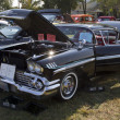 1958 Black Chevy Impala - Stock Photo