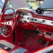 1958 Black Chevy Impala Interior - Stock Photo