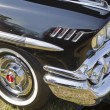 1958 Black Chevy Impala Side Panel - Stock Photo