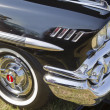 1958 Black Chevy Impala Side Panel - Zdjęcie stockowe